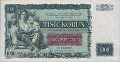 1000 Korun from Czechoslovakia 1934 Specimen UNC Promissory Note, Corporate Bonds, Silver Certificate, Bank Check, Military Issue, Notes Design, Commemorative Coins, Guide Book, Investing