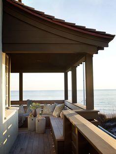 Seaside Style Porch - 65 Beachy Porches and Patios - Coastal Living Coastal Homes, Coastal Living, Beach Homes, Outdoor Rooms, Outdoor Living, Outdoor Decor, Gazebos, Dream Beach Houses, Seaside Style