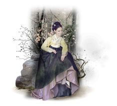 """""""Korean Hanbok"""" by fashionista1864 ❤ liked on Polyvore featuring art"""