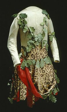 """A wild man's suit"" from 1772. Owned by Karl XIII  http://isiswardrobe.blogspot.com/2011/12/nwe-museum-collections-online.html"