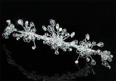 Bridal Wedding Handmade Sparkling Tiara use Swarovski Crystal T1666 | eBay