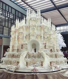 It's really a cake...a wedding  cake