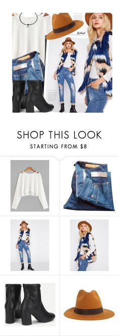 """""""Colorful Faux Fur Vest"""" by meyli-meyli ❤ liked on Polyvore featuring J.Crew, Dsquared2 and romwe"""