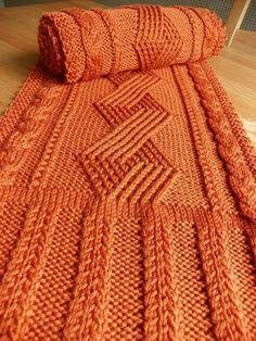 Pattern to Knit Kenworth Mews Cabled Scarf DK by suelillycreations