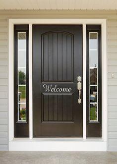 Welcome Door Entryway Decal Many Styles Available, Welcome Sign, Entry Sign, Front Door Decals Welco Front Door Entryway, Glass Front Door, Entrance Doors, Front Door Decor, Front Door Design, Front Door Colors, Speak Friend And Enter, Door Overhang, Vinyl Doors