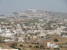 The villages of Exo Gonia and Messa Gonia on Santorini