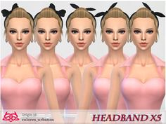 Headband x 5 in 1 by Colores Urbanos at TSR • Sims 4 Updates
