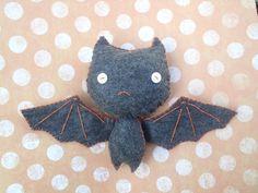 Plush Bat Stuffed Monster Plush Plushie Soft Softie Stuffed Animal Gingermelon Ginger Melon Halloween Doll. $15.00, via Etsy.
