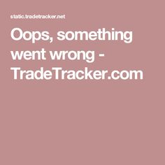 Oops, something went wrong - TradeTracker.com