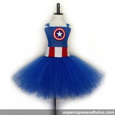 Captian America Inspired Tutu Dress - Visit to grab an amazing super hero shirt now on sale!