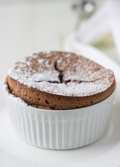 Almond Souffle A rich traditional chocolate souffle recipe with nutty almond meal adding a wonderful texture.A rich traditional chocolate souffle recipe with nutty almond meal adding a wonderful texture. Chocolate Souffle, Dessert Chocolate, Almond Chocolate, Chocolate Cakes, Chocolate Recipes, Gourmet Recipes, Dessert Recipes, Baking Recipes, Bhg Recipes