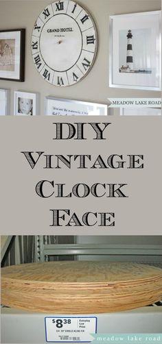 DIY Vintage Clock Face