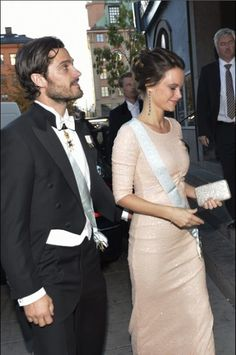 Royals & Fashion - Prince Carl Philip and Princess Sofia attended the annual gala of the Royal Academy of Sciences, which was held in Stockholm