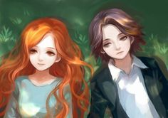 Lily Evans and Severus Snape when they were young <3