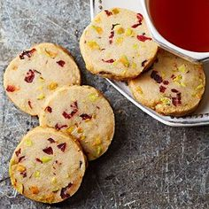 Cranberry Pistachio cookie - would be great half dipped in white chocolate