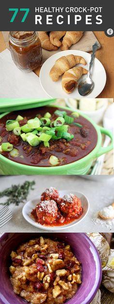 77 Healthy Crock-Pot Recipes #healthy #crockpot #slowcooker #recipes