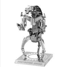 Métal Modèle 3D Puzzle Kit Gadget Cadeau Homme navire de guerre Noël Nano terre À faire soi-même Bateau