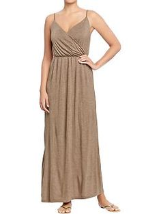 Womens Cross-Front Jersey Maxi Dresses This could also be a nice Pocahontas dress for me, just need a tank for underneath, tie a brown belt around it, add some turquoise jewelry and a head halo. $18.99 oldnavy.com