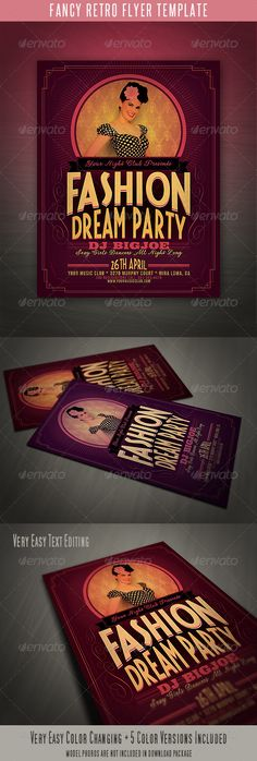 Eruption Party Flyer Fonts, Creative and Flyer template - retro flyer templates