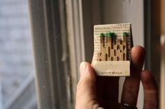 Mini Matchbook City on Antique Paper by flomadecuriosities on Etsy