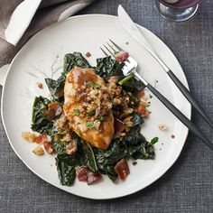 """QUICK CHICKEN """"Maple-Glazed Chicken Breasts with Mustard Jus"""" *a* Chef Way At Emeril's in New Orleans, chef David Slater glazes chicken breasts with maple syrup, sherry vinegar and orange juice infused with anise and. Best Chicken Dishes, Easy Chicken Recipes, Wine Recipes, Cooking Recipes, Healthy Recipes, Yummy Recipes, Yummy Food, Maple Glazed Chicken, Deserts"""