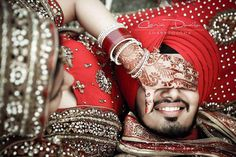 dulhan & dulha indian pakistani bollywood bride and groom desi wedding sikh punjabi