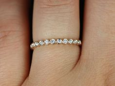 wedding band - Diamond Eternity Band (Available in Diamonds and Other Metals). $595.00, via Etsy.