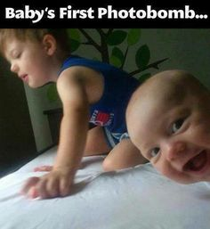 Babys First Photo Bomb