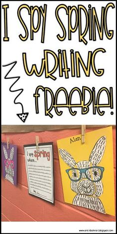I Spy Spring Writing Prompt Freebie First Grade Crafts, First Grade Art, First Grade Writing, Teaching First Grade, Second Grade, Grade 2, Primary Teaching, Fourth Grade, Writing Lessons