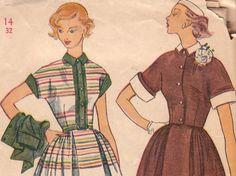 Vintage Pattern 1950s Short Sleeved Dress & Jacket Size 14 Simplicity 3436 on Etsy, $8.00