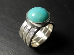 TURQUOISE in sterling silver.