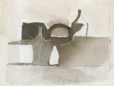 Музей рисунка - Giorgio Morandi (1890-1964гг). Several exceptional watercolors by Morandi in this page that I cannot figure out what it is because of the language. But visual language knows no boundaries!