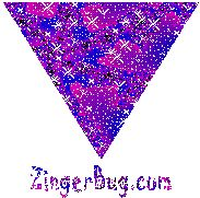 Pink Triangle Glitter Graphic Glitter Graphic, Greeting, Comment, Meme or GIF