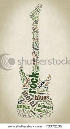 Tag cloud guitar