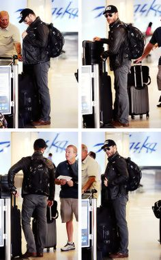 Jensen and bowlegs! Arriving in Vancouver International Airport (6/25 2014)