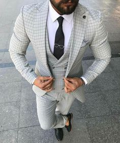 casual mens fashion that look trendy:) 692488 Estilo Hipster, Designer Suits For Men, La Mode Masculine, Formal Suits, Mens Fashion Suits, Men's Fashion, Fashion Photo, Suit And Tie, Well Dressed Men