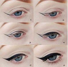 Cat eye tutorial  works like a charm every time