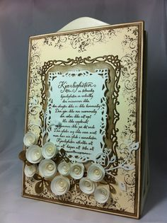 Solveigs Hobbyblogg Cream Flowers, Scrapbook Journal, Lettering, Simple, Frame, Cards, Turquoise, Brown