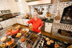 Paula Deen's house in Savannah, Georgia, 4,800 square feet, photo features her AMAZING kitchen!