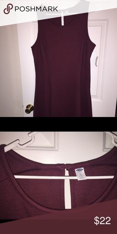 Old Navy A Line dress Burgundy a-line old navy heavyweight dress. Sits below the knee. New with tags. Old Navy Dresses Midi
