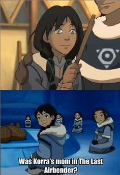 The little girl was probably Korra's mother! !