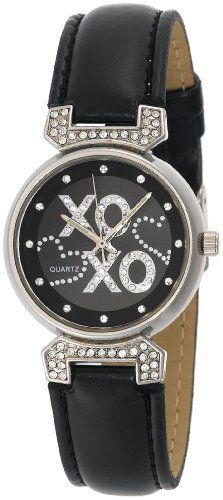 XOXO Women's XO3063 Black Leather Strap Watch XOXO. $19.99