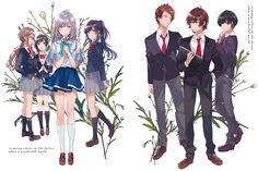 色づく世界の明日から 公式サイト Mythical Creatures Art, Anime Recommendations, Darling In The Franxx, World Of Color, Anime Love, Kawaii Anime, Kara, Anime Characters, Anime Art