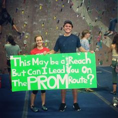 Rock Climbing Promposal Creative With prom proposal ideas - katie talbot - Photo Dance Proposal, Homecoming Proposal, Homecoming Dresses, Prom Photos, Prom Pictures, Sadies Dance, Cute Promposals, Valentine Poster, Prom Goals