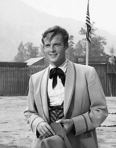 For fourteen episodes between 1960 and Roger Moore played Beau Maverick, the English cousin of James Garner and Jack Kelly's offbeat western heroes. Moore was cast to fill the void left after. Eric Rogers, Maverick Tv, Jack Kelly, Dramatic Arts, Tony Curtis, Tv Westerns, Roger Moore, Sean Connery, Old Tv Shows