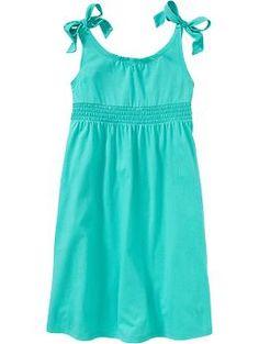 beach pic ideas Girls Shoulder Tie Jersey Dresses