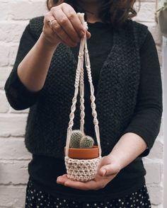 Plant hanger for mini succulents & cacti   carolyn carter makes