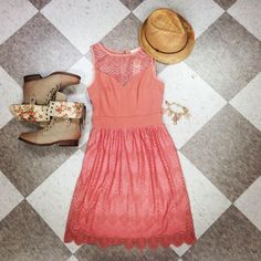 sun dress and combat boots!!