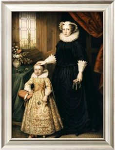 Mary, Queen of Scots (1542 - 1587), and her son James I (1566 - 1625). Mary was beheaded at the order of Queen Elizabeth I. Mary's son James as closest heir goes on to succeed Queen Elizabeth I.