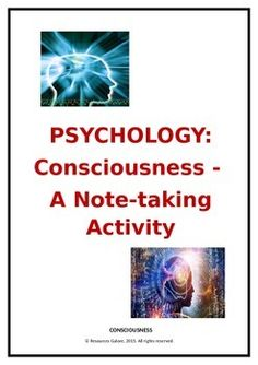 essay about consciousness in psychology 'consciousness' exist in this essay he explains how what used to be the soul has gradually been refined down to the  psychology as a science, they.